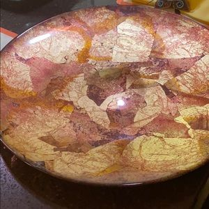 Large decorative plate for fruit candle ect